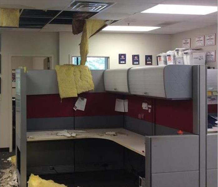 Office Water Damage in Campbell Before