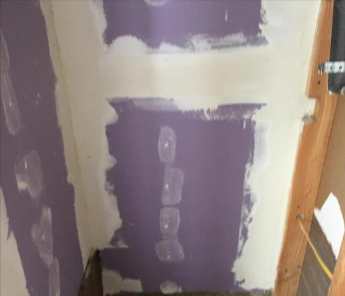 Water Heater Failure - Drywall Repairs After