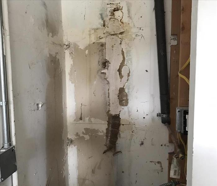 Water Heater Failure - Drywall Repairs Before
