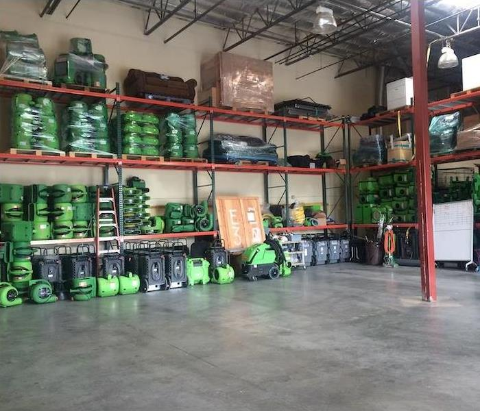 SERVPRO warehouse loaded with the latest equipment and technology.