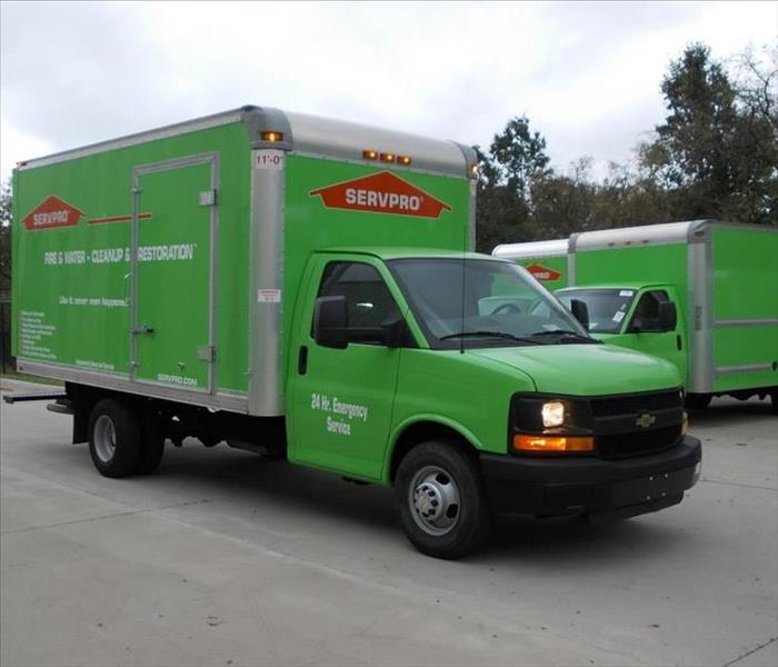 SERVPRO fleet ready for action 24/7 365 days a year.